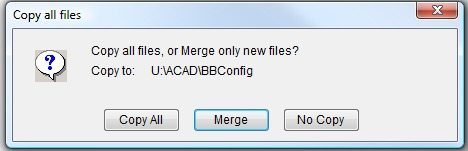Select Copy All or Merge or No Copy to change Bluebeam Revu Stamp Location