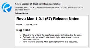 Revu Mac Updated to 1.0.1 (67)