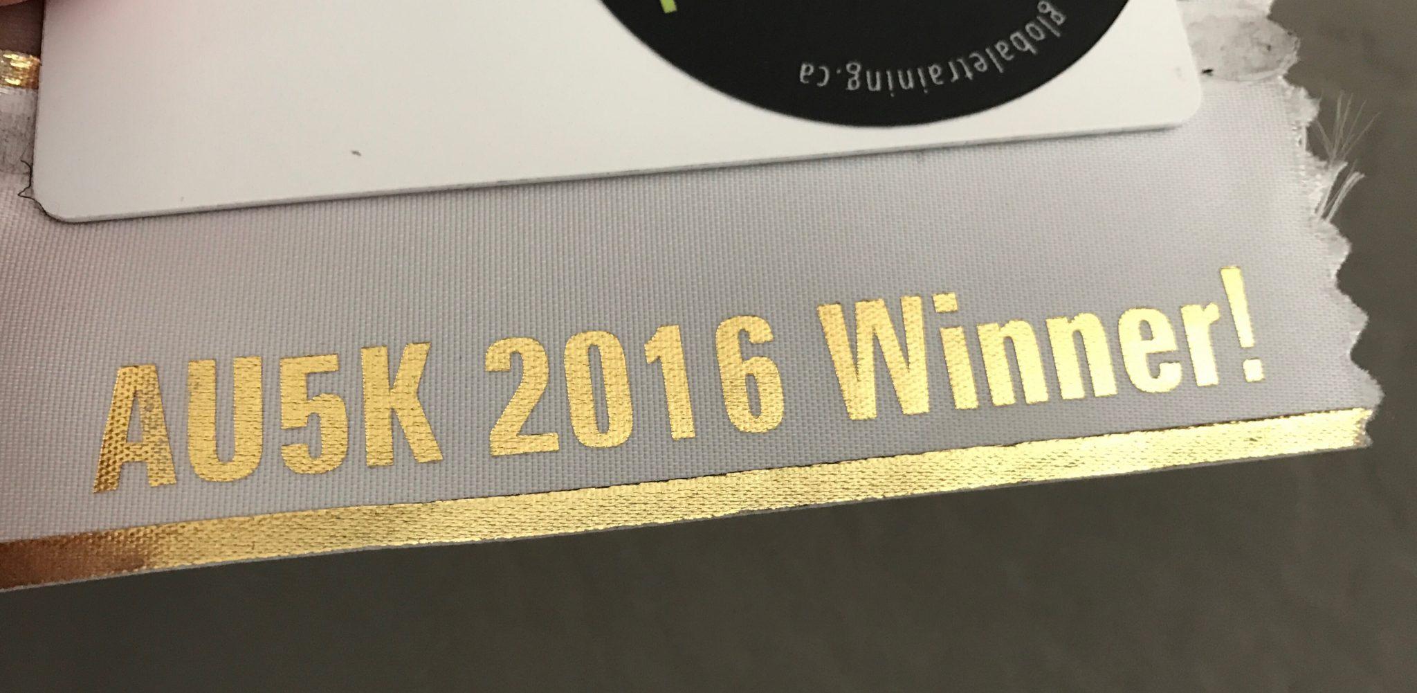 AU5K Winner Ribbon