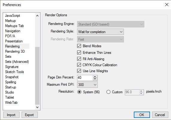 How to improve performance in Bluebeam Revu 2016 and 2017