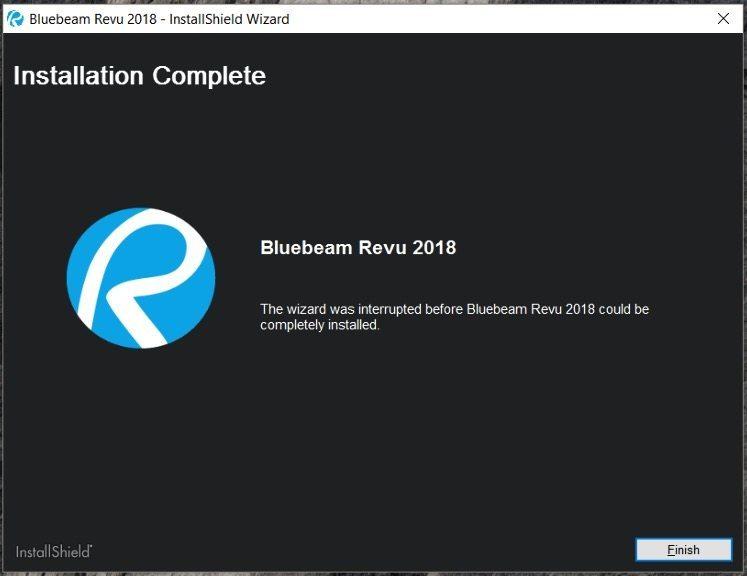 Revu 2018 Installation Complete