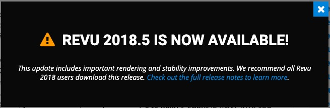 Bluebeam Revu 2018.5 update available
