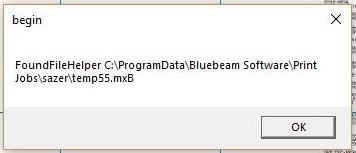 FoundFileHelper C:ProgramDataBluebeam SoftwarePrint Jobs