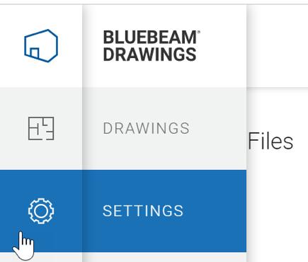 Bluebeam Drawings Settings