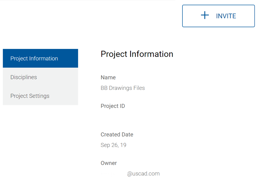 Project information for Bluebeam Drawings Project