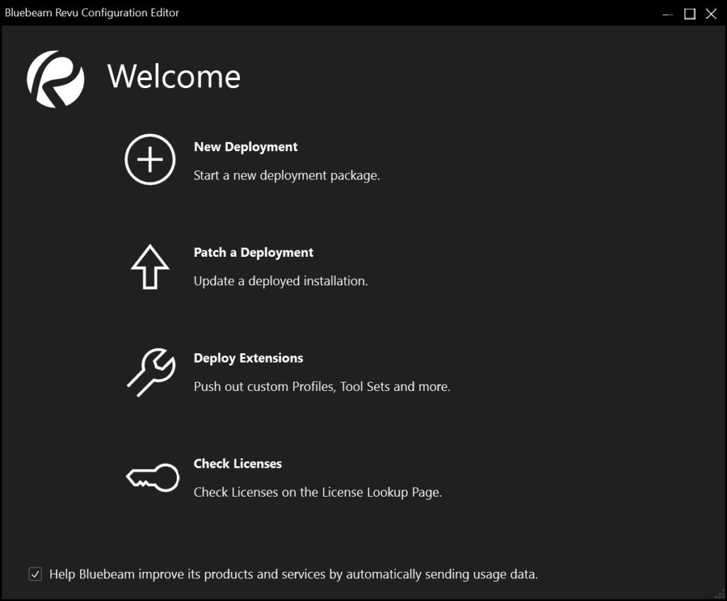 Revu 2019 Configuration Editor
