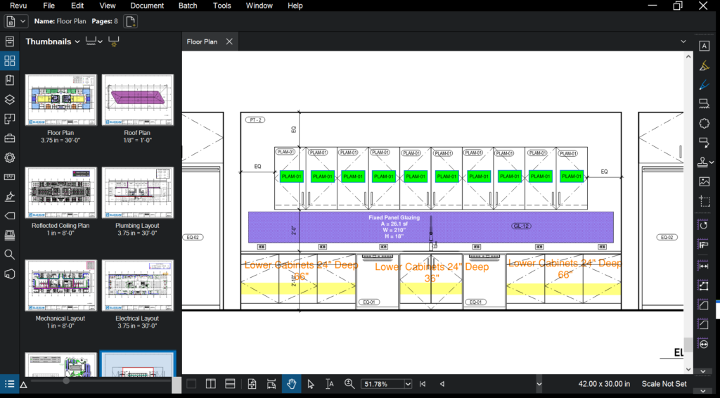 Takeoff Scale Thumbnails in Bluebeam Revu