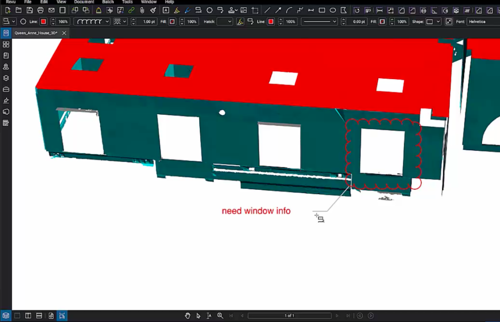 Markup of 3D pdf